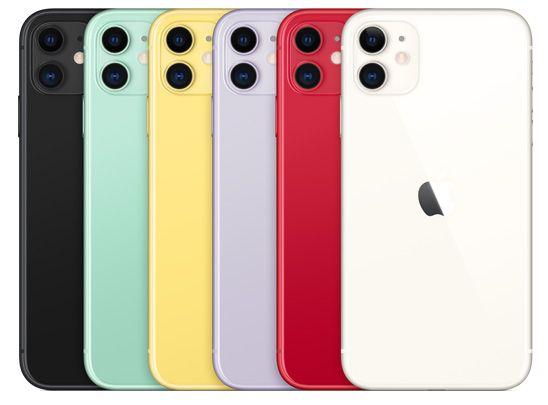 iPhone 11のカラーバリエーション