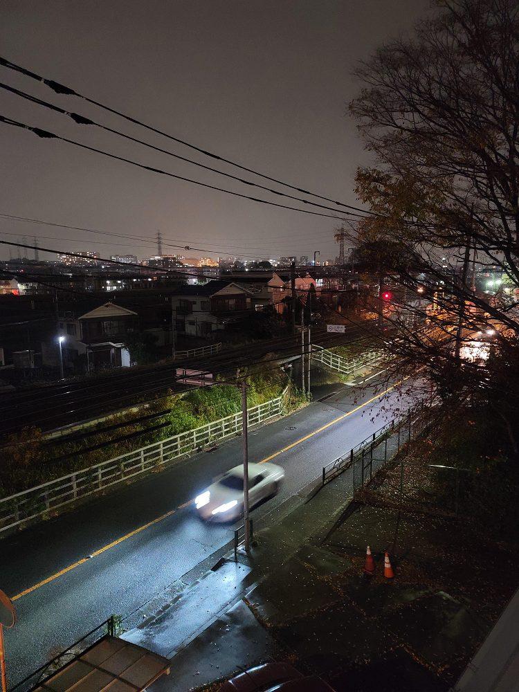 GalaxyNote20Ultra5Gで夜景撮影した図