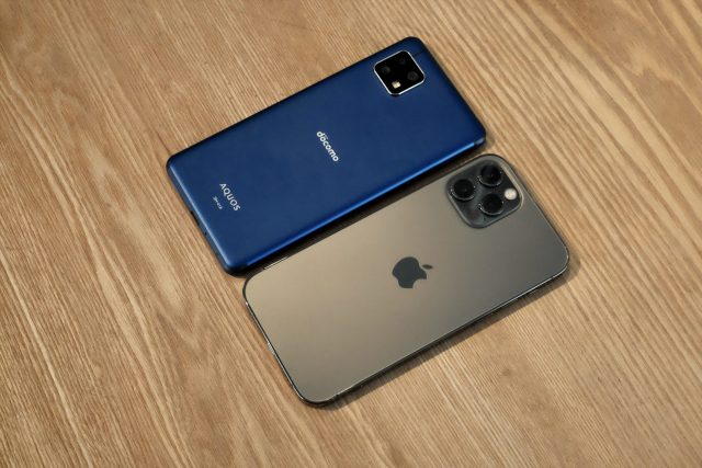 AQUOS sence4 iPhone12 Pro比較