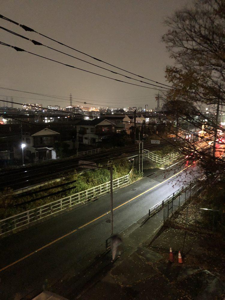 iPhone8で夜景を撮影した図