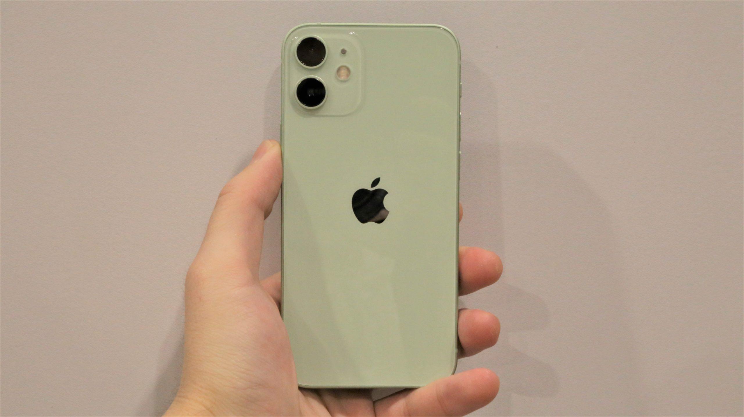iPhone 12 miniのグリーン