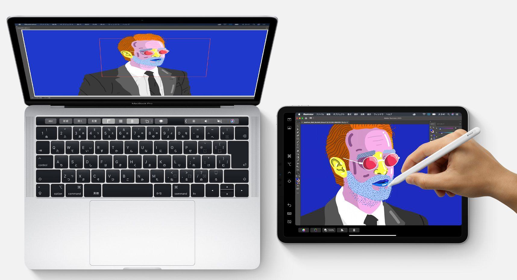 macbookとipadをsidecarでミラーリング