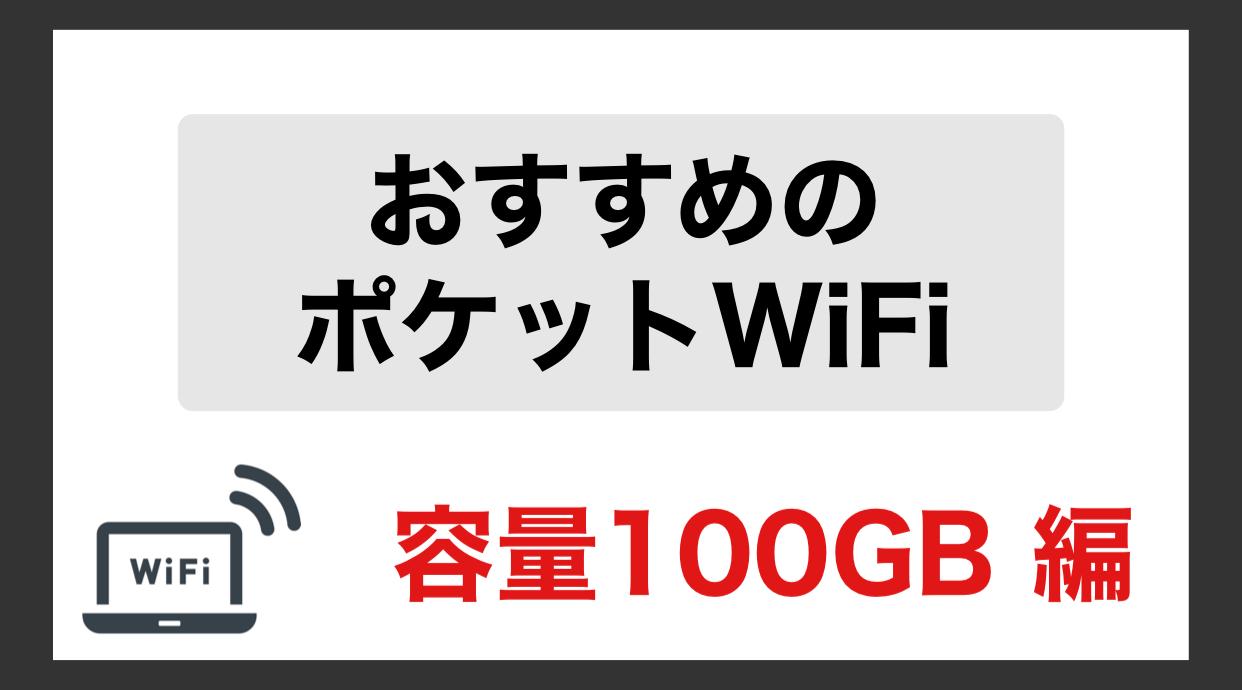 ポケットWiFi 100GB