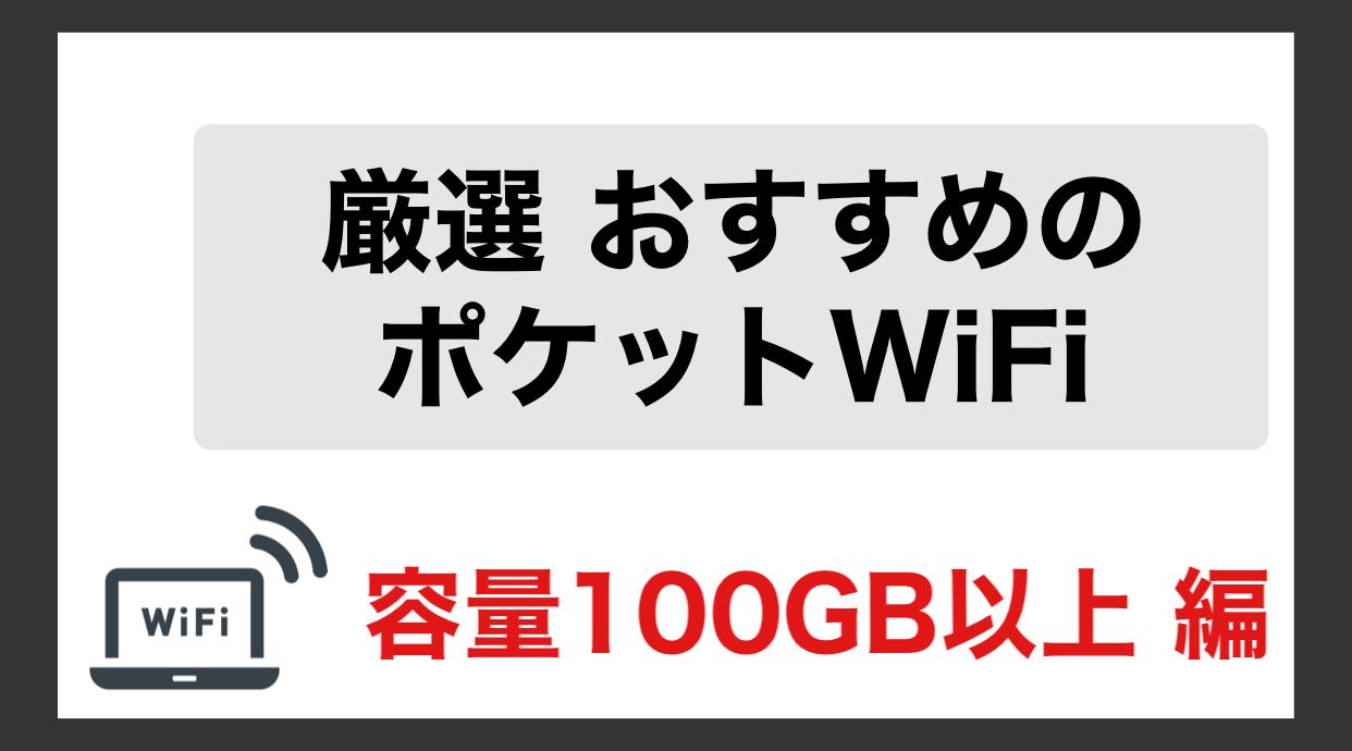 ポケットWiFi 100GB以上