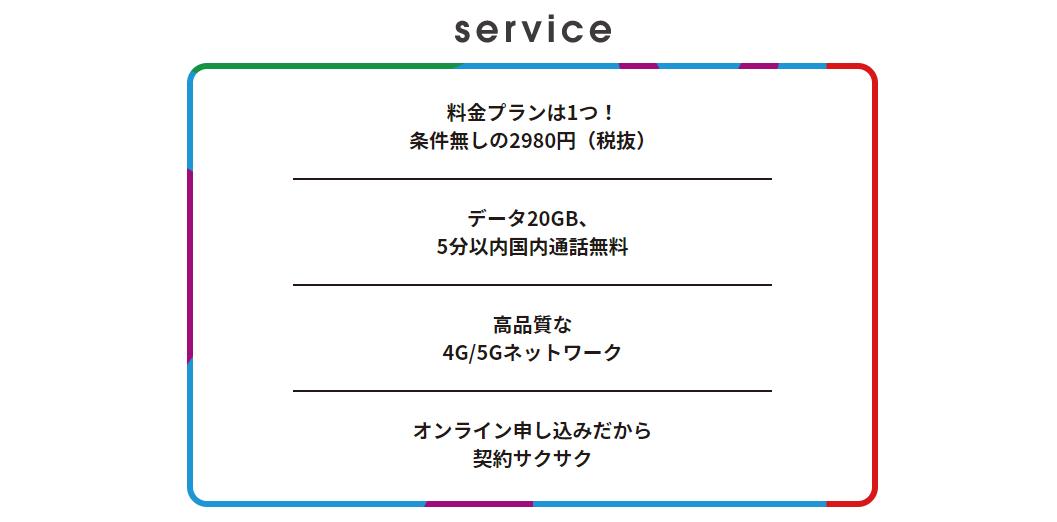 アハモのサービス内容