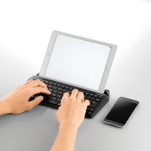 エレコム スタンド付きキーボード(BT)TK-DCP01BK