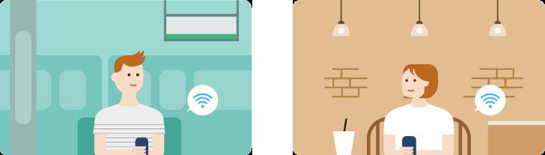 LINEモバイル Wi-Fiオプション