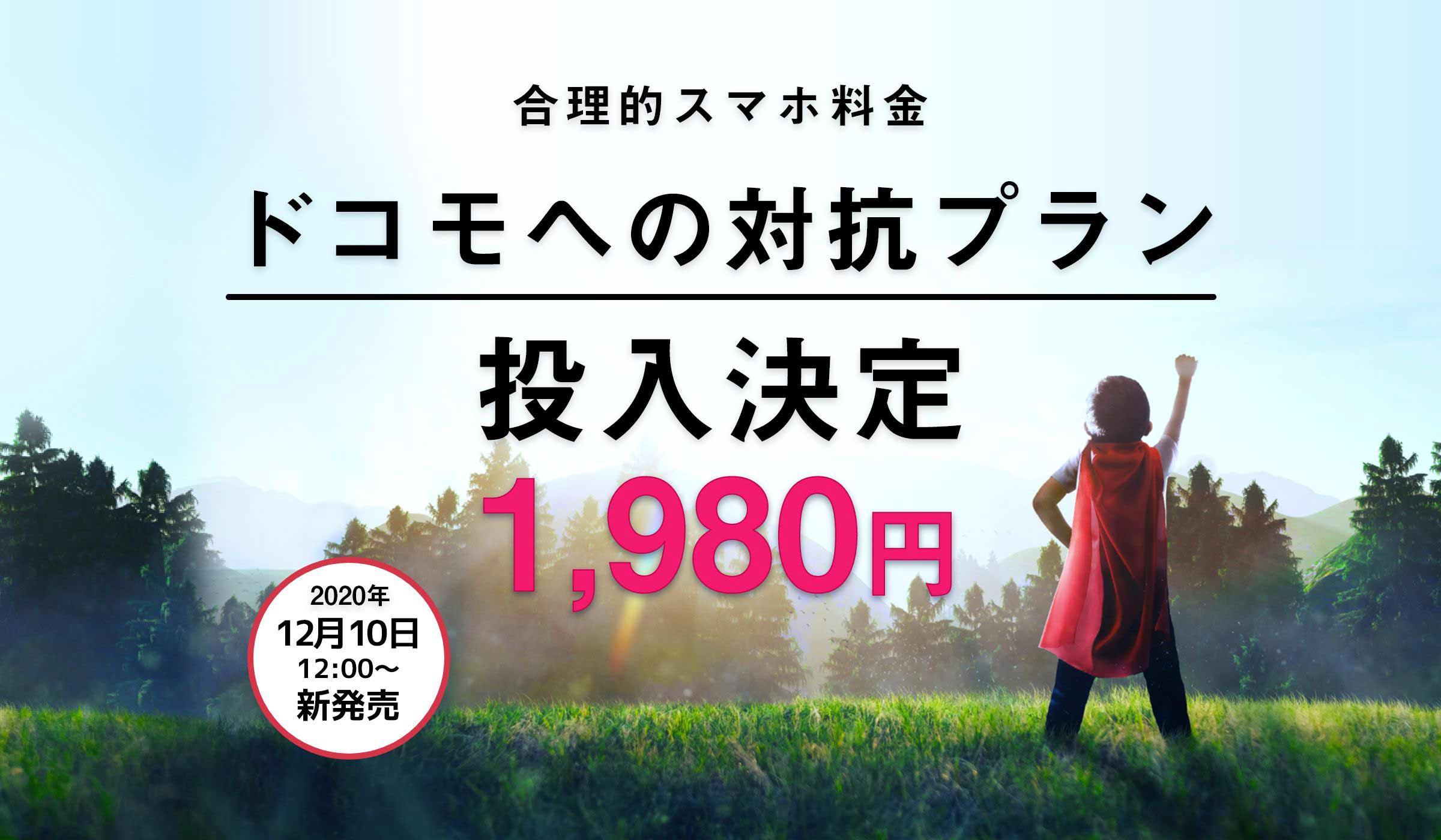 日本通信SIM 合理的20GBプラン