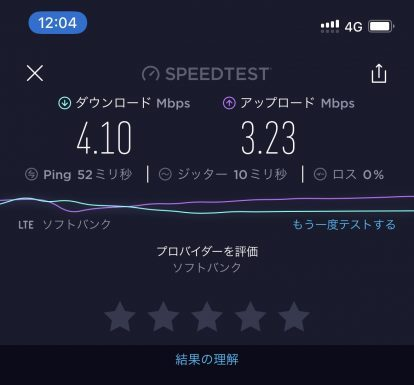 LINEモバイルテザリング速度02