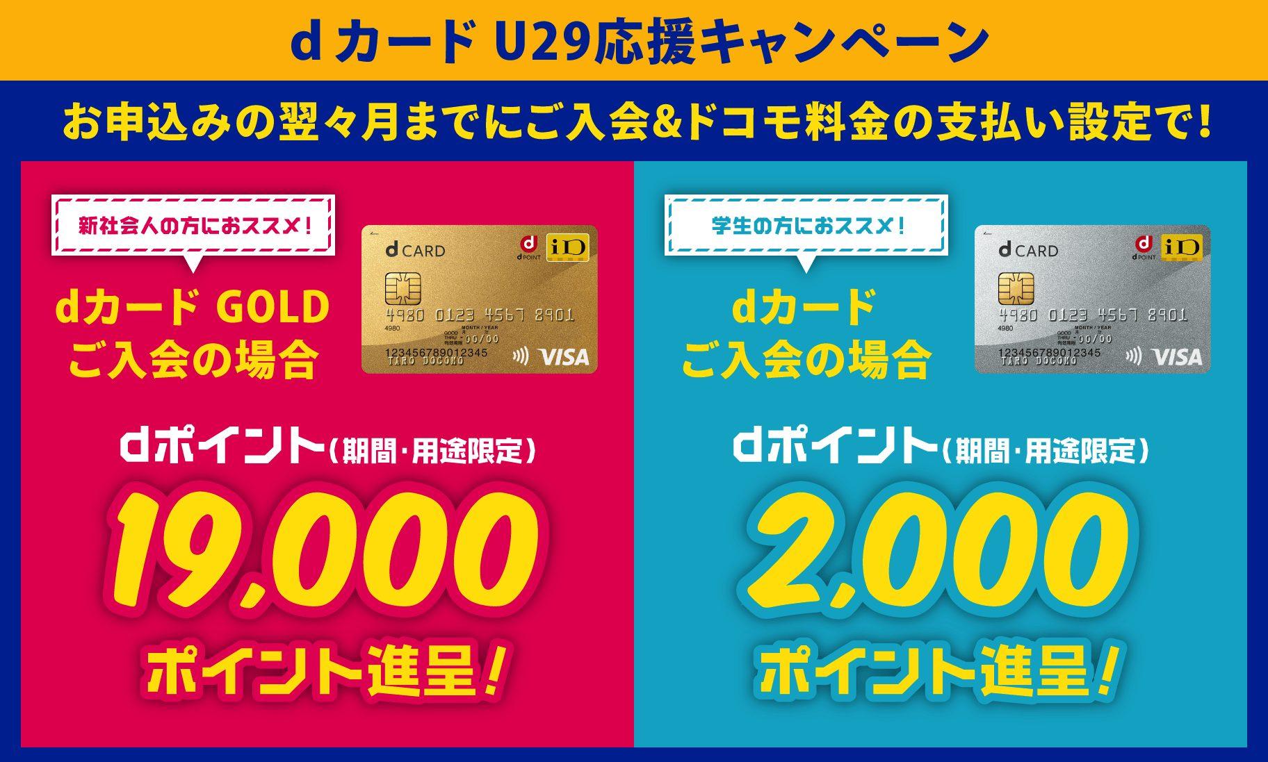 dカードU29応援キャンペーン詳細