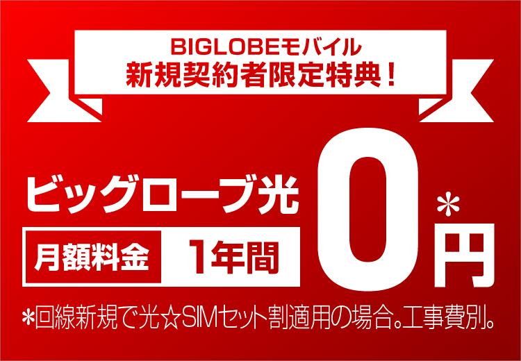 BIGLOBEモバイル新規契約者限定特典