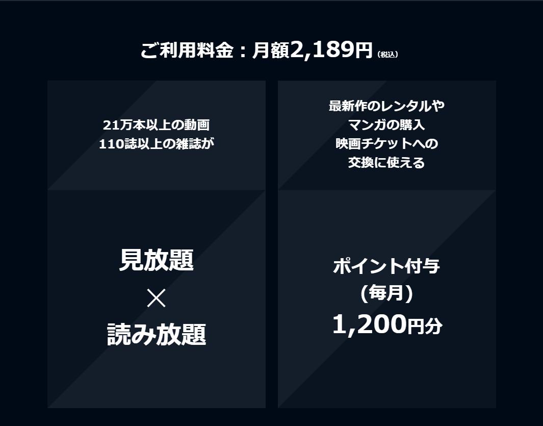 U-NEXT料金プラン