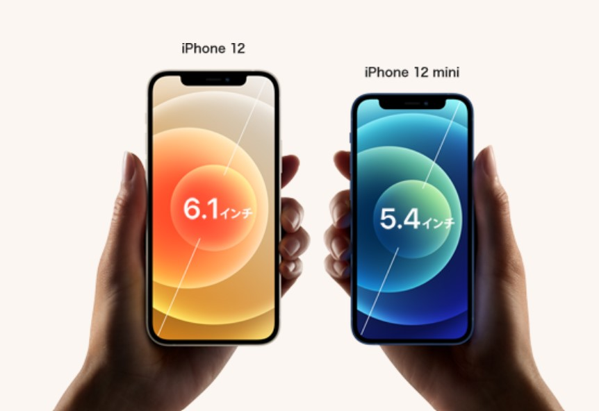 ドコモのiPhone12とiPhone12mini
