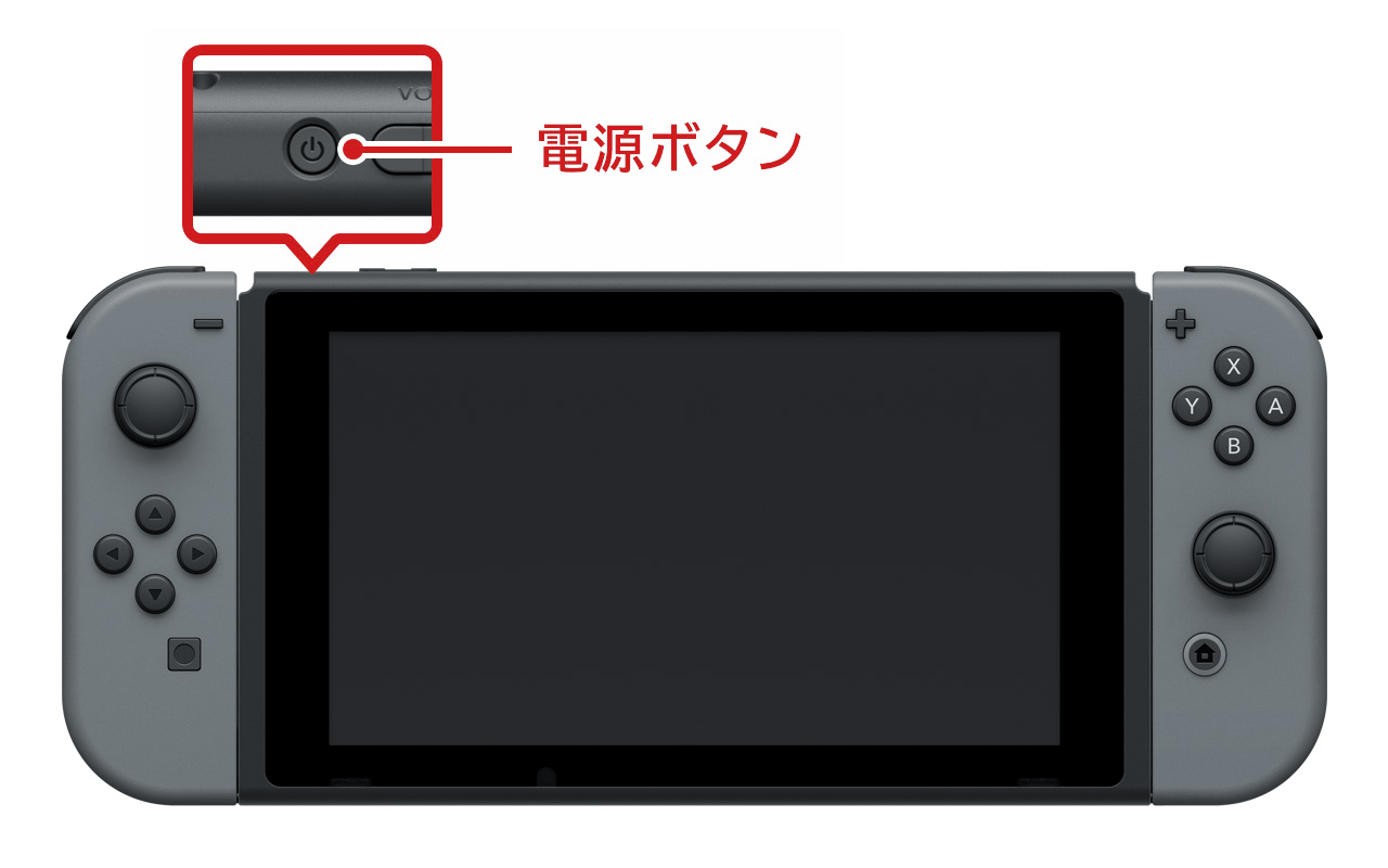 Nintendo Switch電源ボタン