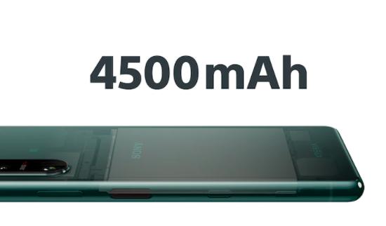 4,500mAhの大容量バッテリー