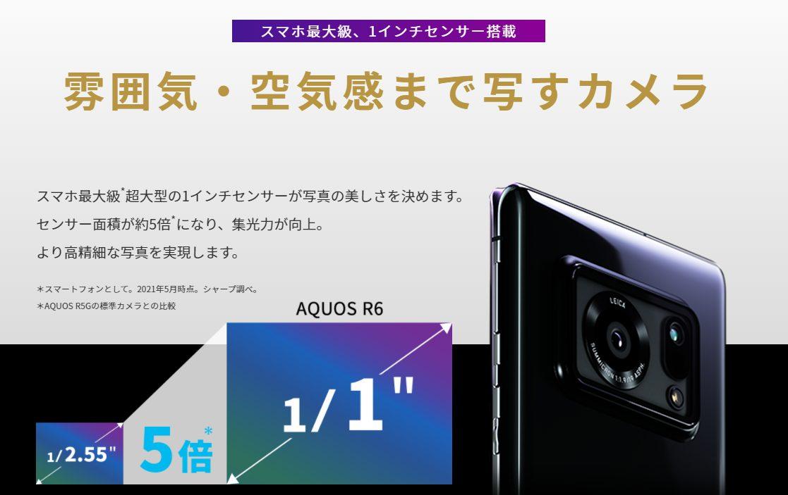 AQUOS R6のカメラ