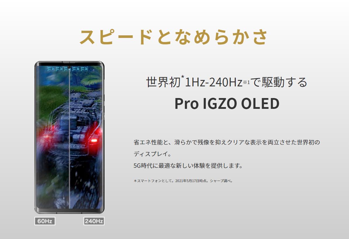 AQUOS R6とiPhone 12 Pro Maxのディスプレイ比較