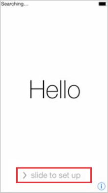 iPhoneの初期設定を進める