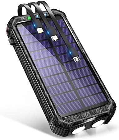 DeliToo 大容量ソーラーモバイルバッテリー