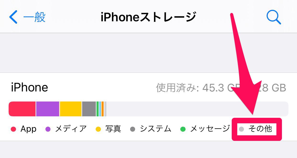 iPhoneストレージ「その他」02