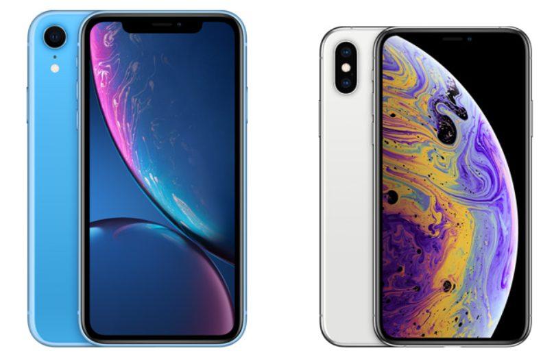 iPhone XRとiPhone XS