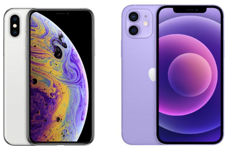 iPhone XSとiPhone 12