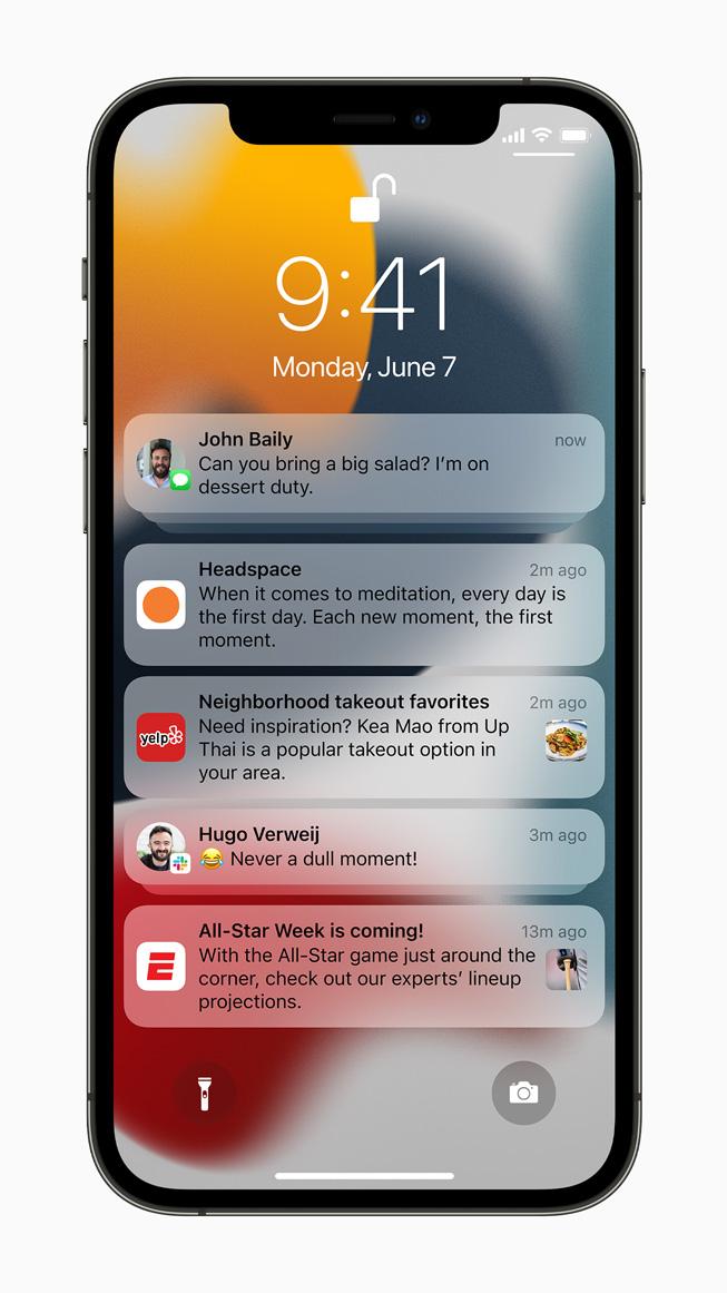 iOS15の通知