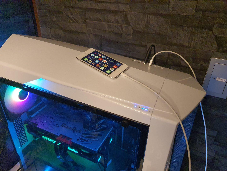 PCとiPhoneを接続する