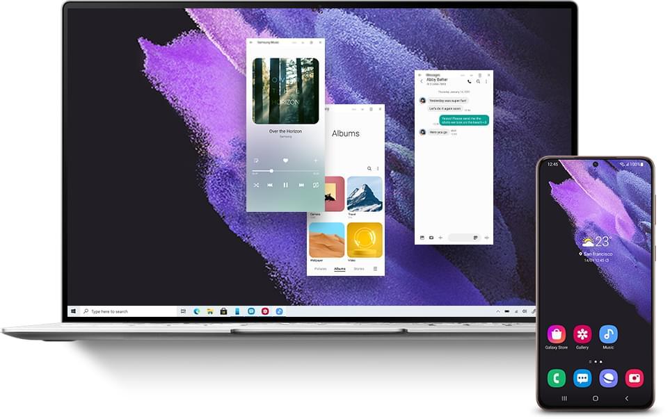 Galaxy S21とWindows10