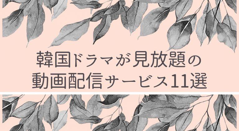 韓国ドラマが見放題の動画配信サービスおすすめ11選