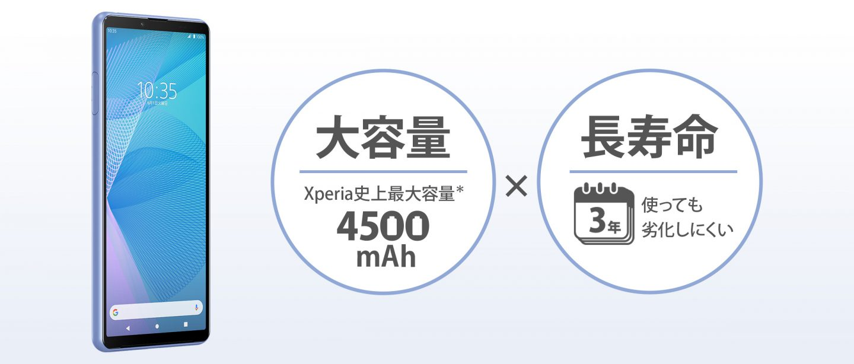 Xperia 10 IIIのバッテリー