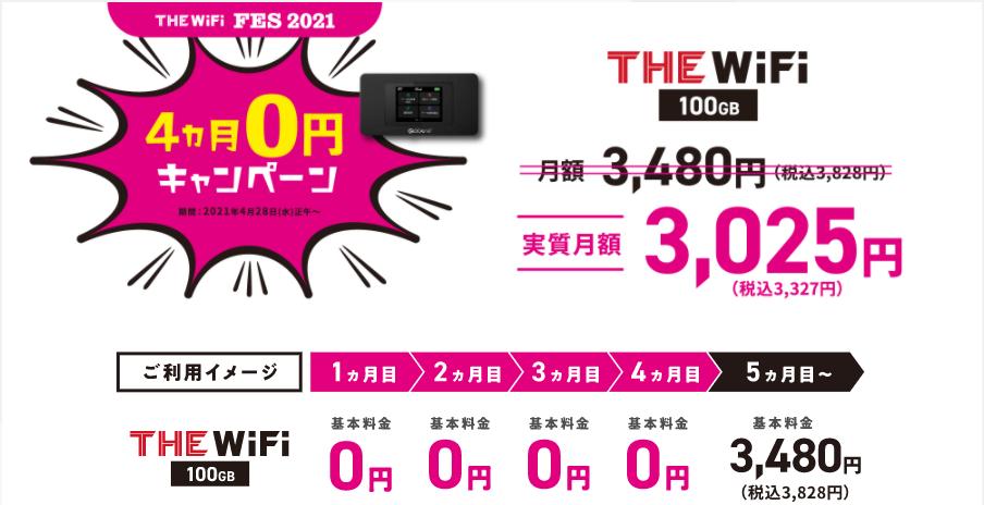 THE WiFi キャンペーン