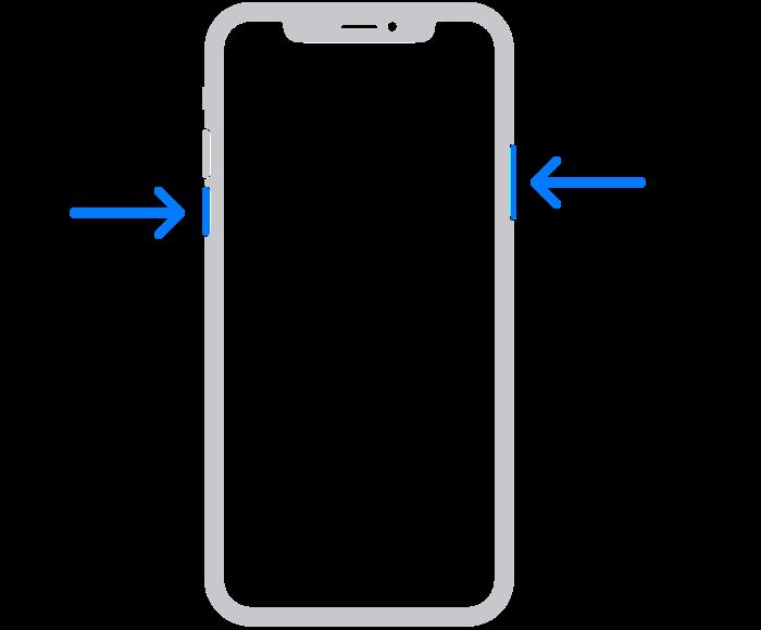 iPhone Xを再起動