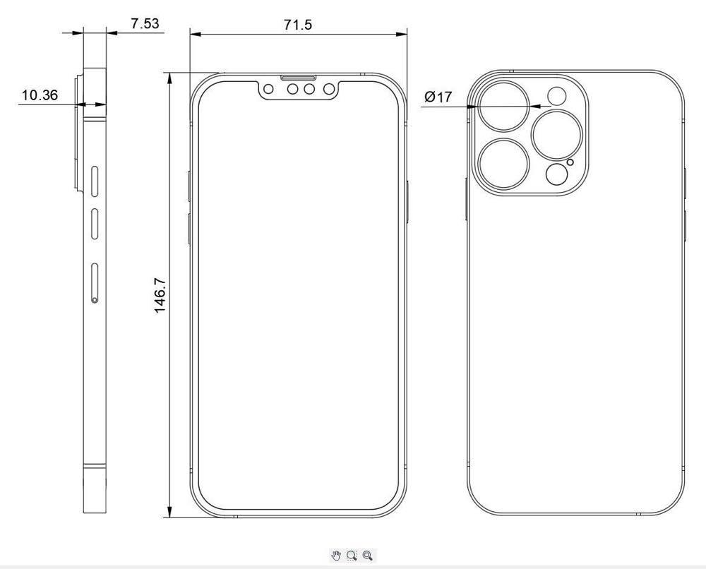 iPhone13 pro 図面