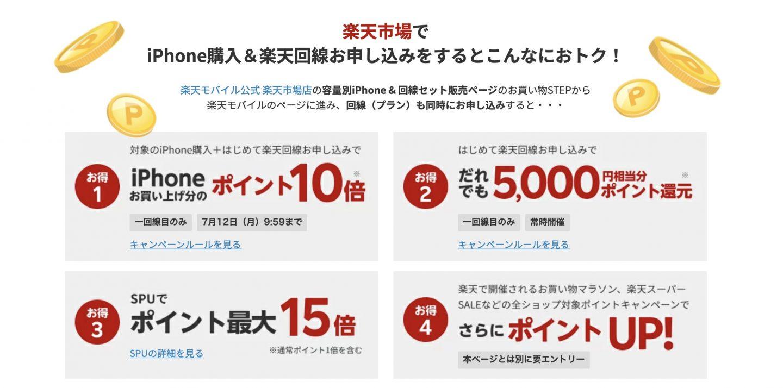 楽天市場 iPhoneキャンペーン