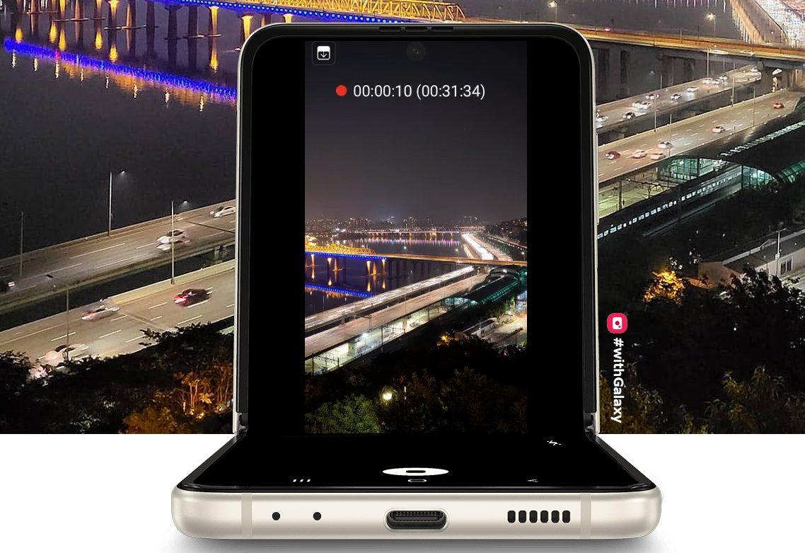 Galaxy Z Flip3 5Gのフレックスモード