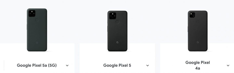 Google Pixel 比較
