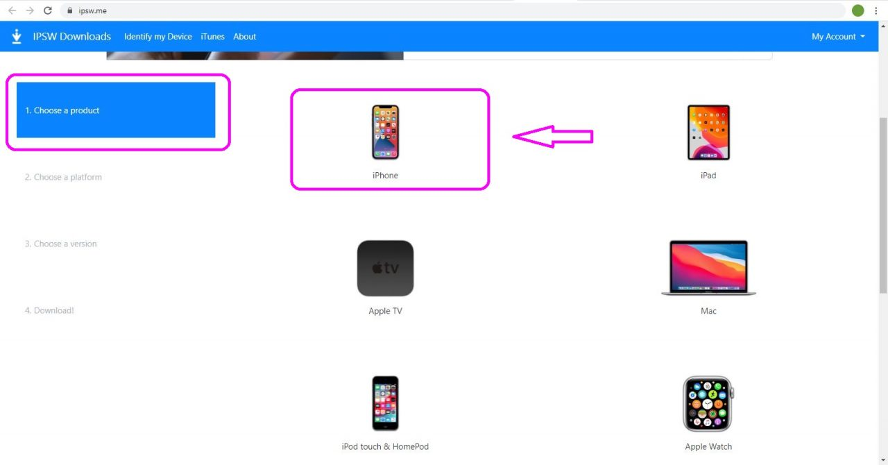 iOS ダウングレード 手順画像