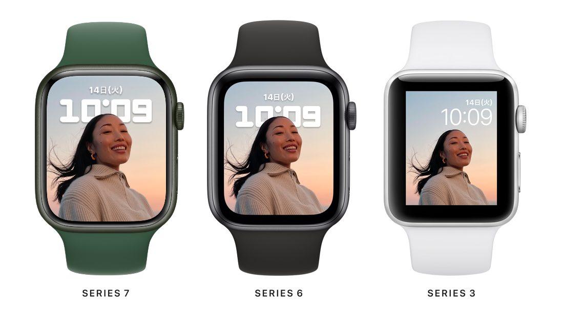 Apple Watchのディスプレイサイズ比較