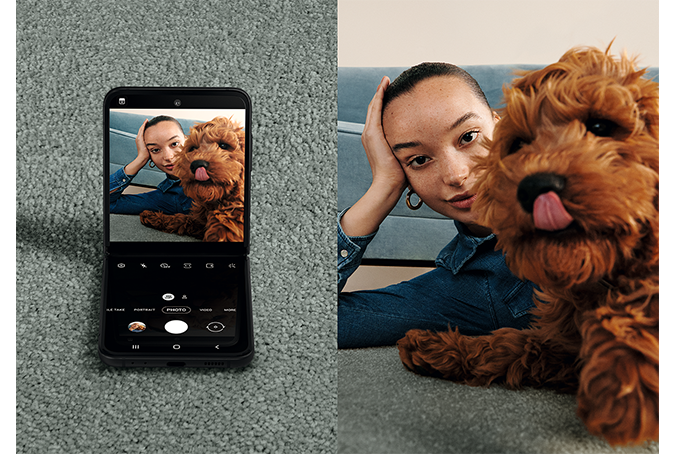 Galaxy Z Flip3 5G インカメラ使用例