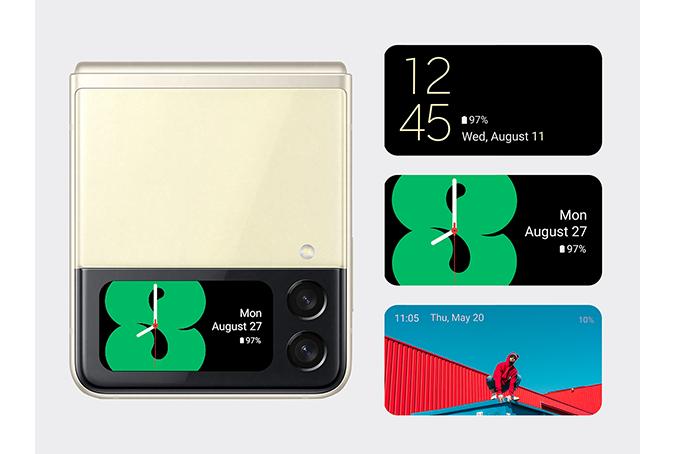 Galaxy Z Flip3 5G サブディスプレイ