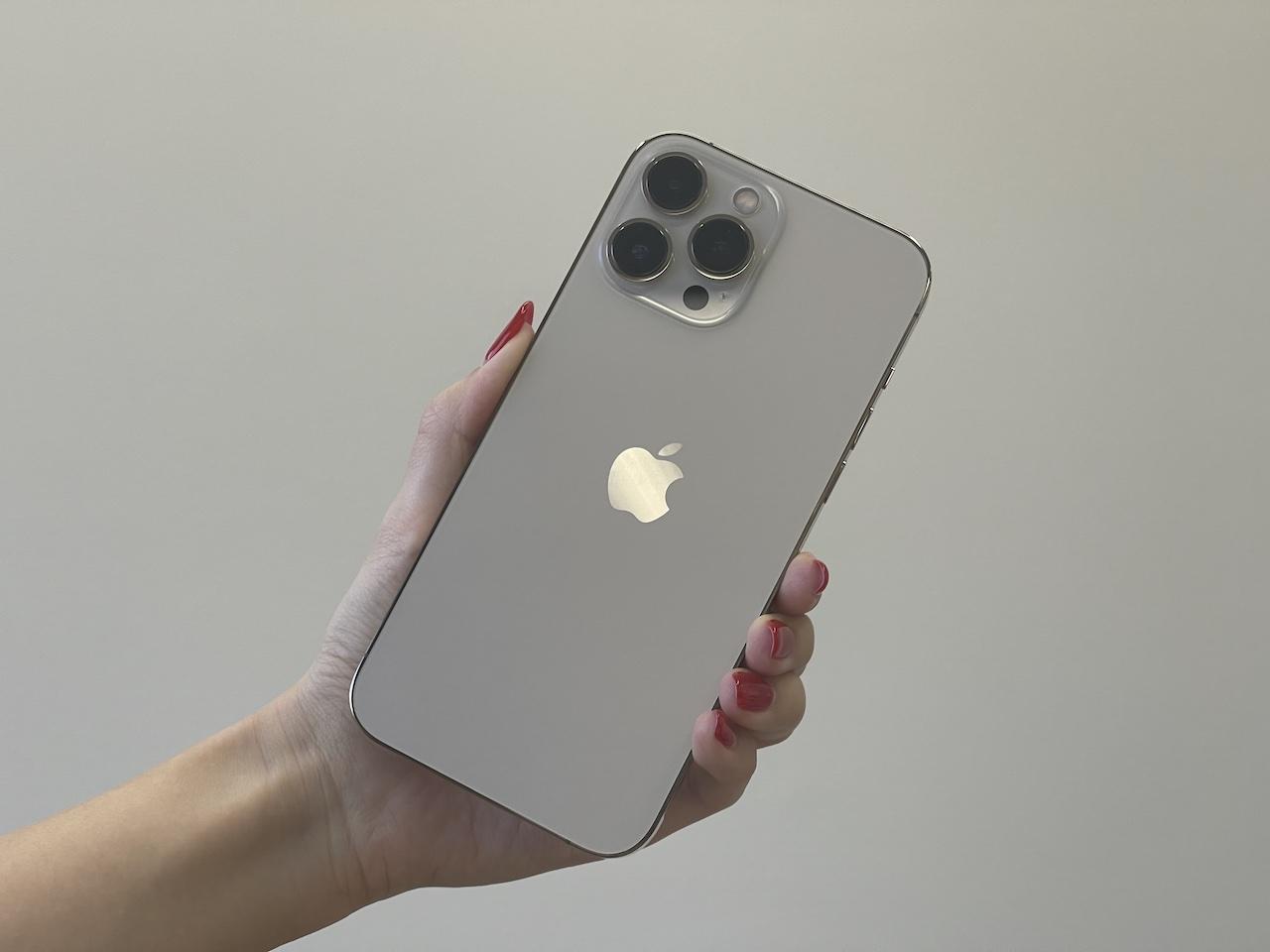iPhone 13 Pro Maxのゴールド