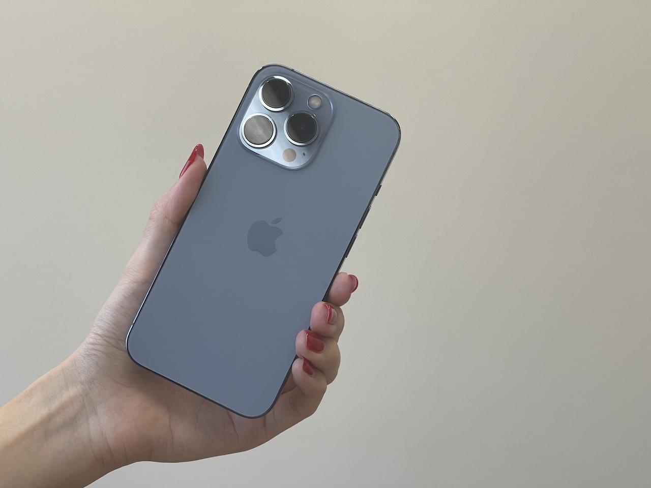 iPhone 13 Proのシエラブルー