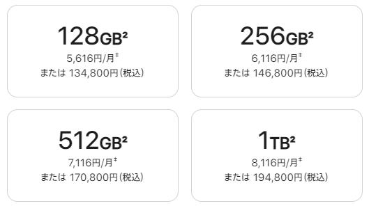 iPhone 13 Pro Maxの価格