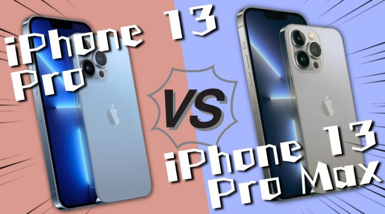 iPhone13 ProとiPhone13 Pro Maxの比較
