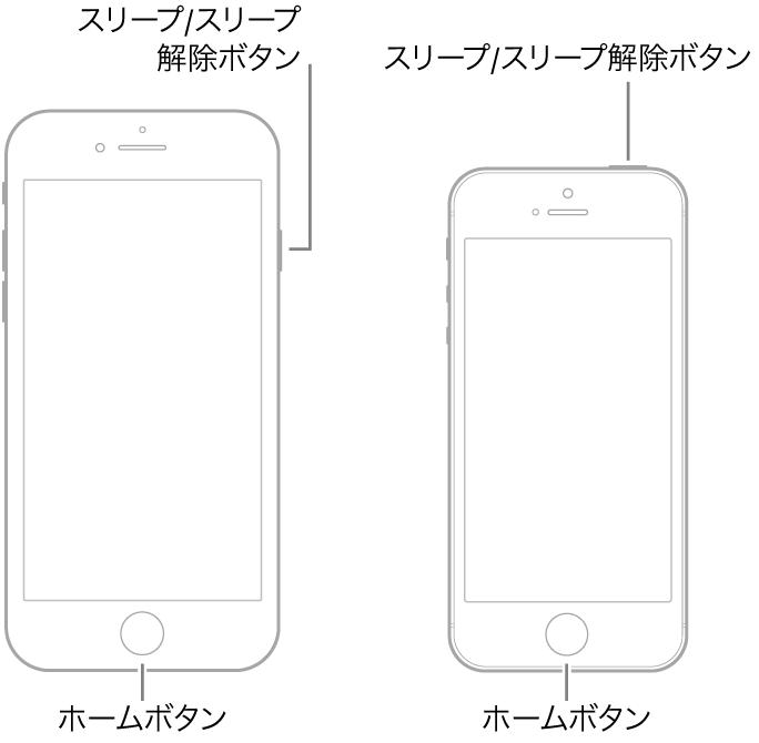 iPhone 6s、iPhone SEの強制再起動に使うボタン