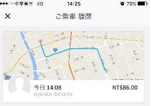 【Bitwave】 台湾でUBERを使用してみました。 (5)